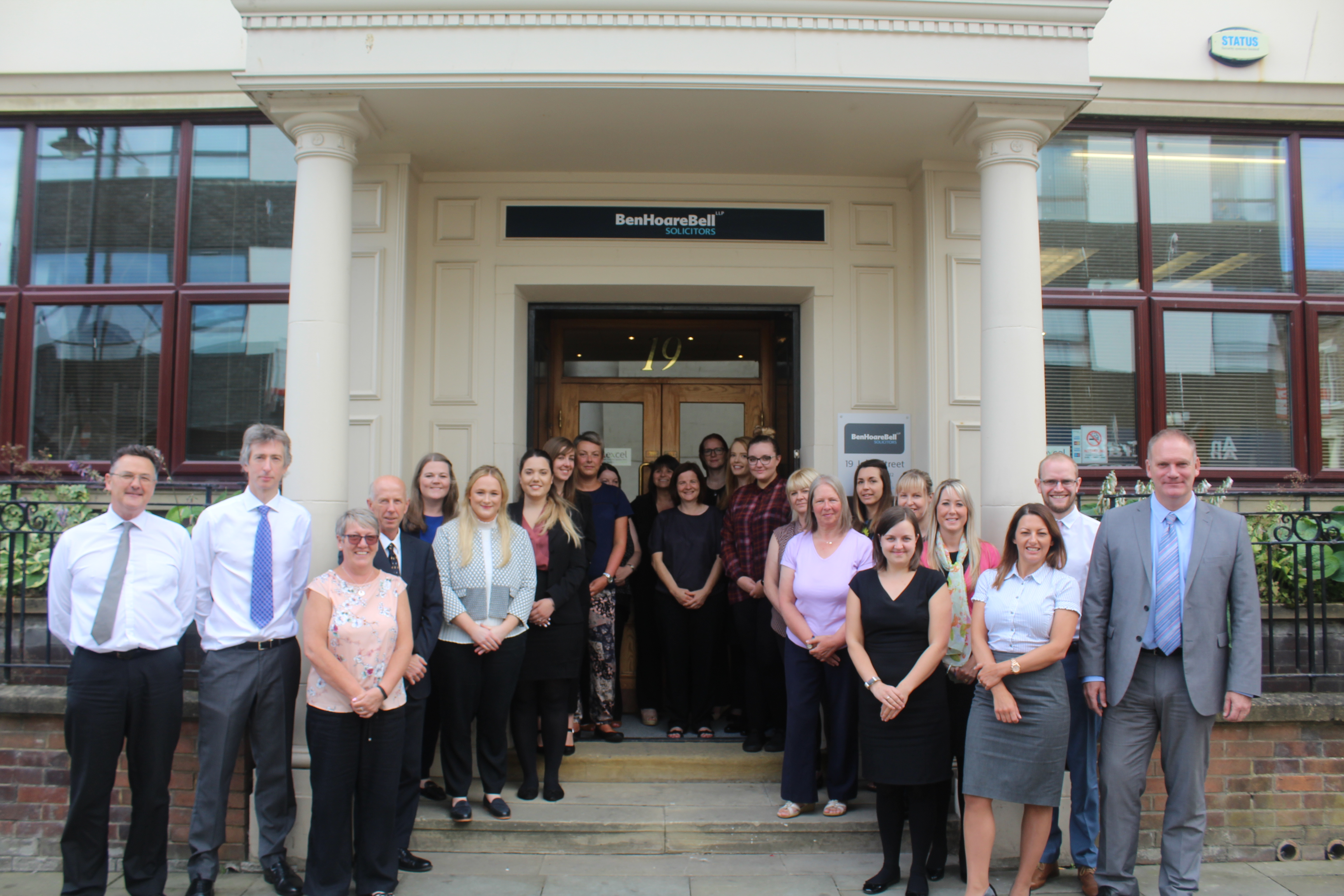 Ben Hoare Bell LLP staff at their new office 19 John Street, Sunderland, SR1 1JQ