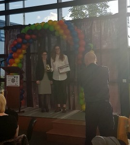 Lui Receiving the 'LGBT Ally Award' 2017