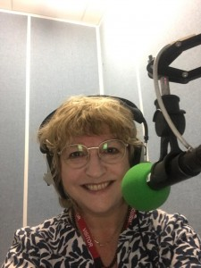 Cris McCurley appearing on BBC Woman's Hour