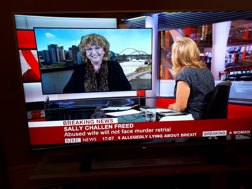 BHB Partner Cris McCurley being interviewed on BBC News about the Sally Challen case