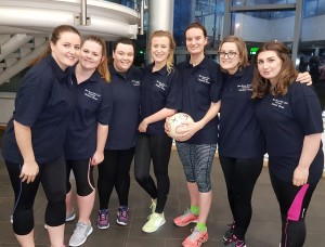 Some of the Ben Hoare Bell Netball Team at a practice session